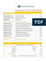Income Tax Calculator FY 2017 18