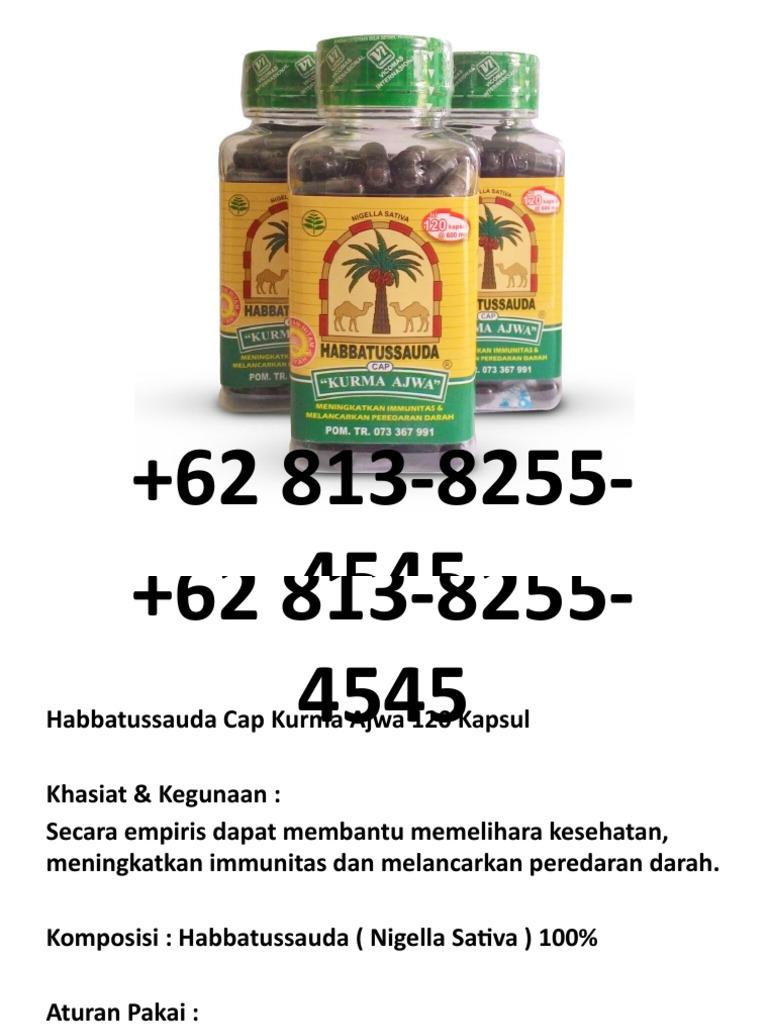Grosir 62 813 8255 4545 Habbatussauda Kurma Ajwa 120 Termurah Kapsul