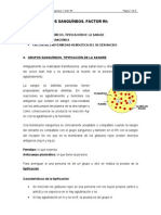 TEMA IX. GRUPOS SANGUÍNEOS. FACTOR Rh