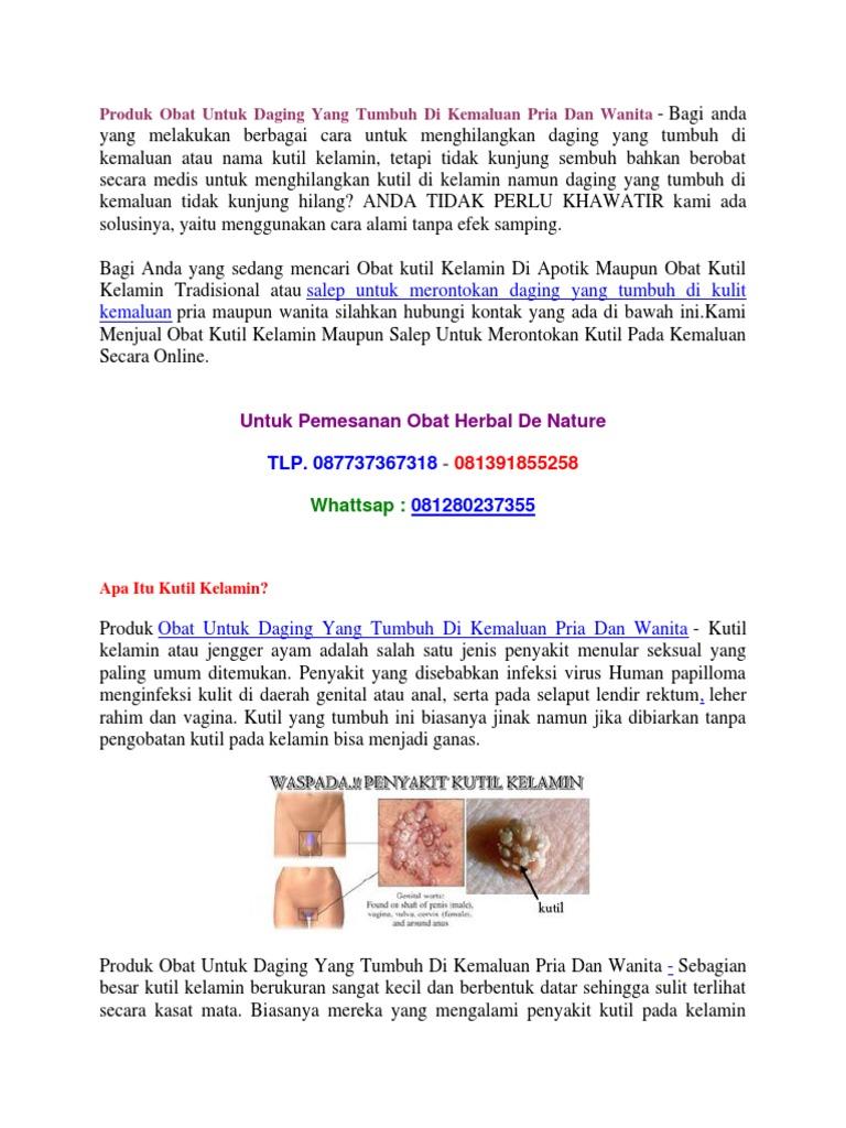 Produk Obat Untuk Daging Yang Tumbuh Di Kemaluan Pria Dan Wanita Kutil Kelamin P