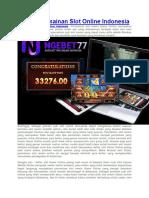 Daftar Permainan Slot Online Indonesia