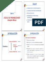 Trasparencias Tema 8.1. Calculo de Probabilidades (2x2)