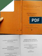 Hermagorae Temnitae Testimonia Et Fragmenta. Adiunctis Et Hermagorae Cuiuasdam Discipuli Theodori Gadarei Et Hermagorae Minoris Fragmentis
