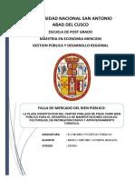 LA PLAZA CONSTITUCION DEL CENTRO POBLADO DE PISAC COMO BIEN PÚBLICO PARA EL DESARROLLO DE MANIFESTACIONES SOCIALES, CULTURALES, DE REREACION PASIVA Y APROVECHAMIENTO TURISTICO
