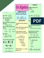 Algebra 20 Revision 20 Sheet