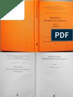Hipponax - Testimonia Et Fragmenta (Ed. Degani, 1983)