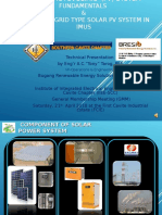 IIEE-SCC Solar PV System Fundamentals