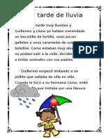 """Cuentos Con Fonemas La Letra """"LL"""" Una Trade de Lluvia (1)"""