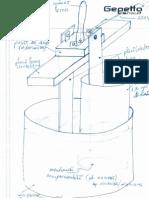 Schema unui electrolizor pentru obtinerea apei alcaline (apa vie) si acide (apa moarta) - varianta simpla.