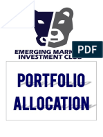 Portfolio Allocation Model