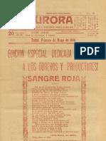 La Aurora,  Partido Obrero Socialista (Chile), 1 Mayo 1914
