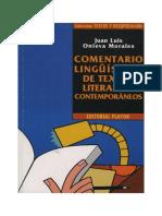 Comentario lingüístico de textos literarios contemporáneos- Onieva Morales