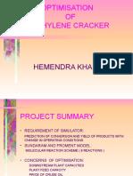 Simulation of Steam Cracking Unit - Hemendra Khakhar