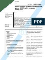 NBR 13436 - Liquido gerador de espuma de pelicula aquosa (AFFF) a 3 por cento para uso aeronautico.pdf