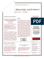 Eletronic discovery and evidence