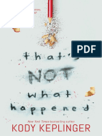 That's Not What Happened (Excerpt)