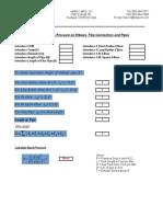 Backpressure CalculatorP