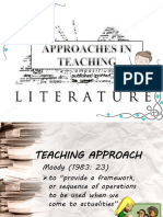 Approaches in Teaching Literature
