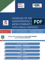 Metro Ethernet Modeling
