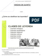 ¿Cómo Se Clasifican Las Leyendas_ – LEYENDAS de QUINTO