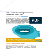 Cómo Redactar El Email Para Enviar El Currículum Paso a Paso