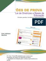 QUESTÕES de PROVA - LDB - Pedagogia Para Concursos