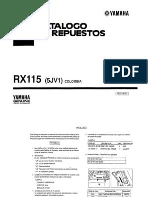 Diagrama Motor Rx 115   Diagrama de fiação elétrica