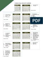 VCS 2018-19 Calendar