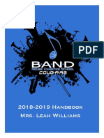 Band Handbook 2018