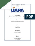 Trabajo Final, Ciencias Sociales Del Nivel Primario, Ybanessa