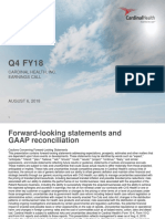 Cardinal Health Q4 FY18 Earnings Deck