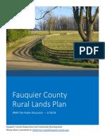 Fauquier County Rural Lands Plan Draft