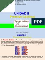 Ingles i Unidad II Presente Continuo 2018 - 1