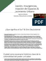 Globalizaciòn, Insurgencias & Descolonizaciòn de Espacios Translocales