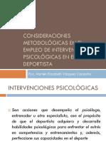 Consideraciones Metodológicas en El Empleo de Intervenciones Psicológicas