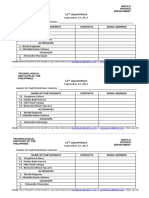 Registration Sheet 12th Olymphysics