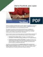 Haz Publicidad en Facebook
