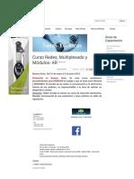 Curso Redes, Multiplexado y Módulos- AR