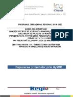 1. Ghidul Solicitantului Obiectiv Specific 13.1 - Versiunea Finala Martie 2018
