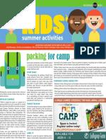 Kids Summer Activities 2018