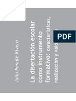 La disertación escolar como instrumento formativo, características, realización y valoración