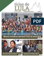 Noticias Cholula del 6 de agosto 18