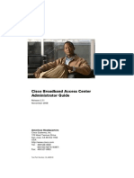 Cisco Broadband Access Center Administrator Guide