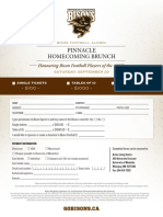 Pinnacle Homecoming Brunch Registration Form