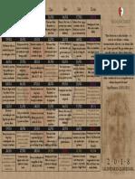 Calendário Quaresmal 2018