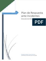 Plan de Respuestas ante Incidentes