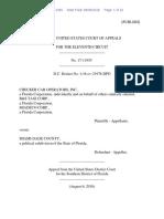 Checker Cab Operators, Inc. v. Miami-Dade County, No. 17-11955 (11th Cir. Aug. 6, 2018)