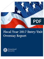 DHS 2017 Entry/Exit Overstay Report