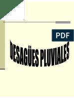 DESAGÜE PLUVIAL
