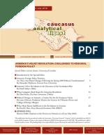 Caucasus Analytical Digest 104